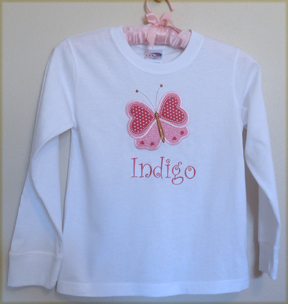 Tshirt - Valentine Girl Personalized Custom Butterfly