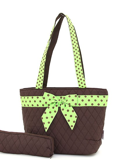 Lunch Bag - Brown and Green