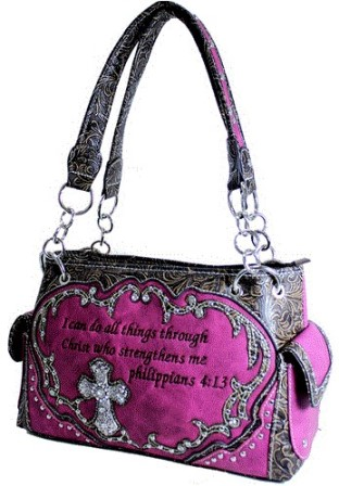 Bible Collection - Handbag With Bible Verse - Pink