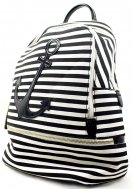 Preppy Nautical Anchor Collection - Backpack - Black and White