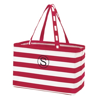 Preppy Garnet Personalize Monogrammed Ultimate Carry Tote-#UCT226