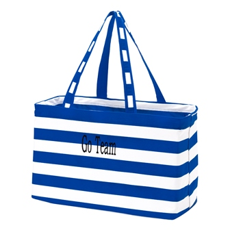 Preppy Royal Blue Personalize Monogrammed Ultimate Carry Tote-#UCT222