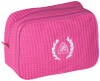 Hot Pink Waffle Cosmetic Bag