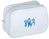 White Waffle Cosmetic Bag
